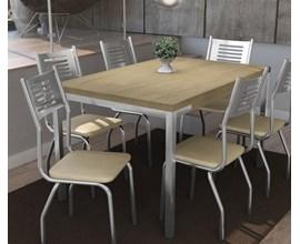 Conjunto 2 Cadeiras Munique Crome Cromado com Assento Nude Kappesberg
