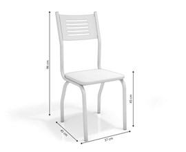 Conjunto 2 Cadeiras Munique Crome Cromado com Assento Preto Linho Cinza Kappesberg