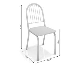 Conjunto 2 cadeiras Noruega Crome Branco Fosco com Assento Branco Kappesberg