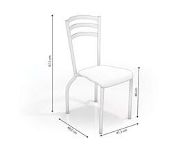 Conjunto 2 Cadeiras Portugal Crome Cromado com Assento Nude Kappesberg