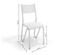 Conjunto 4 Cadeiras Nápoles Crome Cromado/nude Kappesberg