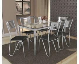 Conjunto 4 Cadeiras Nápoles Crome Cromado/preto Kappesberg