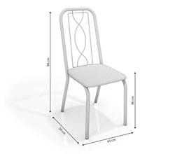 Conjunto 4 Cadeiras Viena Crome Cromado/Branco Kappesberg