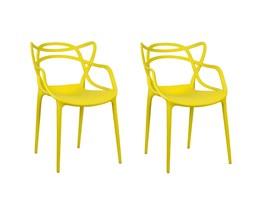 Conjunto com 2 Cadeiras Allegra Amarela Casa Aberta Brasil