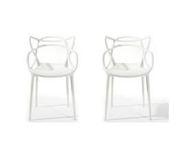 Conjunto com 2 Cadeiras Allegra Branca Casa Aberta Brasil