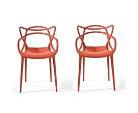 Conjunto com 2 Cadeiras Allegra Vermelha Casa Aberta Brasil