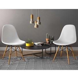 Conjunto com 2 Cadeiras Eiffel Assento PP Branca Notável Móveis