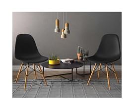 Conjunto com 2 Cadeiras Eiffel Assento Pp Preta Notável Móveis