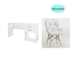 Conjunto de Mesa Branca com Cadeira Eiffel Branca Casa Aberta Brasil