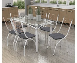 Conjunto de Mesa com 6 cadeiras Itália PT/LIN/CZ Kappesberg