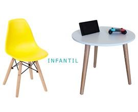 Conjunto de Mesa Infantil com 1 Cadeira Infantil Amarela Casa Aberta Brasil