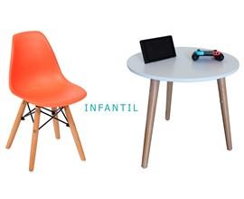 Conjunto de Mesa Infantil com 1 Cadeira Infantil Laranja Casa Aberta Brasil