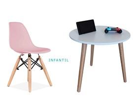 Conjunto de Mesa Infantil com 1 Cadeira Infantil Rosa Casa Aberta Brasil