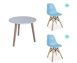 Conjunto de Mesa Infantil com 2 Cadeiras Eiffel Azul Casa Aberta Brasil