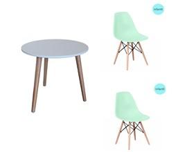 Conjunto de Mesa Infantil Com 2 Cadeiras Eiffel Verde Casa Aberta Brasil