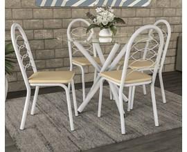 Conjunto Mesa com 4 cadeiras Holanda Nude Kappesberg