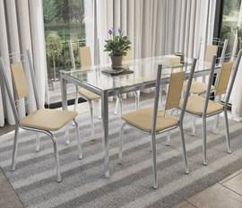 Conjunto Mesa com 6 Cadeiras Florença NudeKappesberg