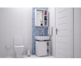 Conjunto Para Banheiro Cab08 com 2 Peças Branco Brv Móveis