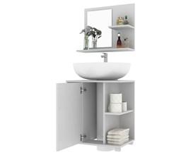 Conjunto para Banheiro com Armário e Balcão BBN 19 Branco BRV Móveis