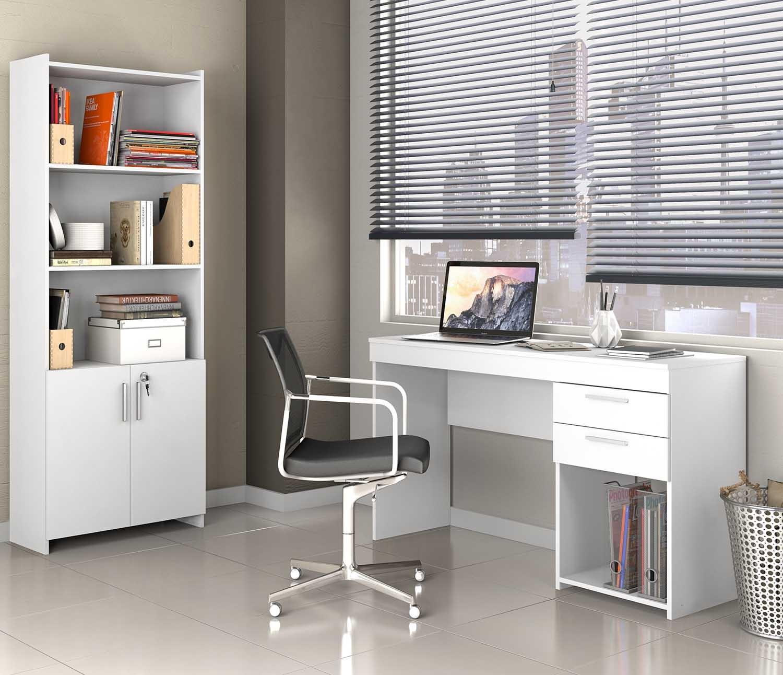 Conjunto para Escritório Office CAB Branco Notável Móveis