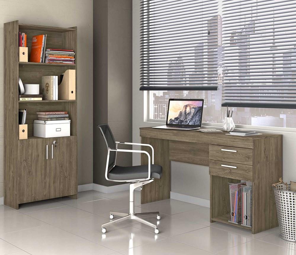 Conjunto para Escritório Office CAB Canela Notável Móveis