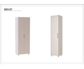 Conjunto Para Lavanderia 2 Peças Armário 1 Porta e Armário 2 Portas Bks 07 Branco Brv Móveis