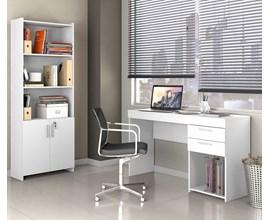 Escritório Compacto 2 Peças Office Branco Notável Móveis