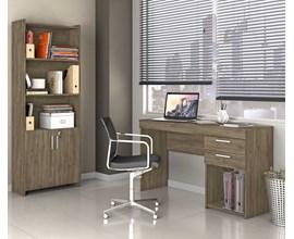 Escritório Compacto 2 Peças Office Canela Notável Móveis
