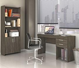 Escritório Compacto 2 Peças Office Ébano Notável Móveis
