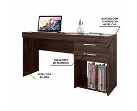 Escritório Compacto 2 Peças Office Malbec Notável Móveis