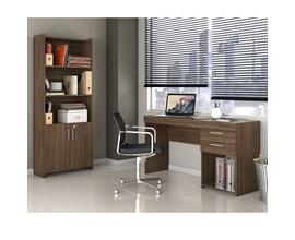 Escritório Compacto 2 Peças Office Nogal Notável Móveis