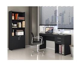 Escritório Compacto 2 Peças Office Preto Notável Móveis
