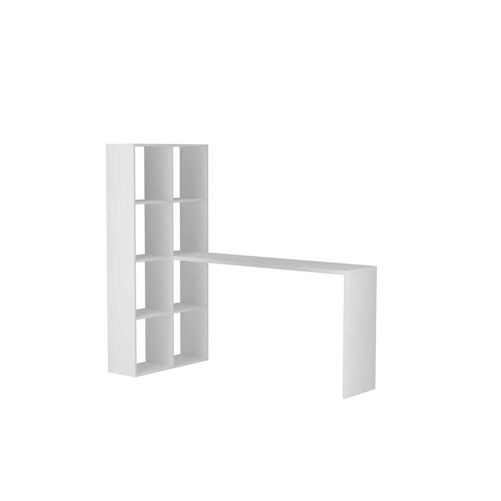 Escrivaninha Estante BE38 Cube Branca BRV Móveis