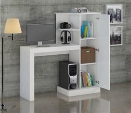 Escrivaninha/Mesa para computador Safira New Branco Notável Móveis