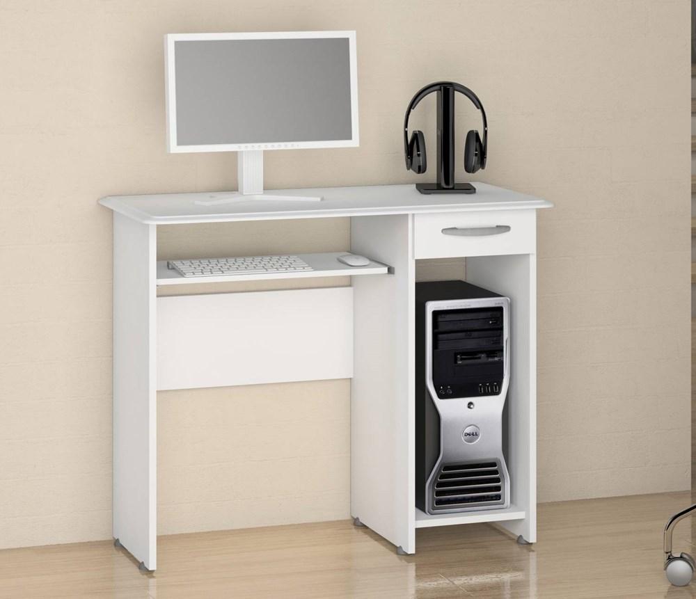 Escrivaninha/Mesa para Computador Siena New Branco Notável Móveis