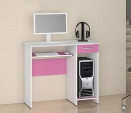 Escrivaninha/Mesa para Computador Siena New Branco/Rosa Notável Móveis