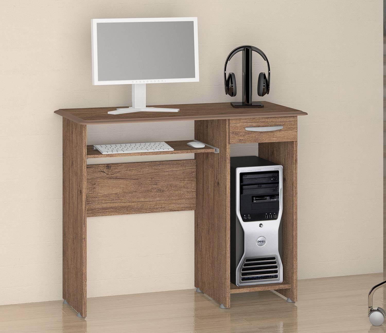 Escrivaninha/Mesa para Computador Siena New Castanho Notável Móveis