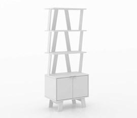 Estante Aberta AZ1003 Branco Tecno Mobili