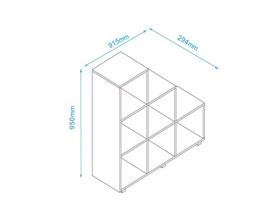 Estante Cube BE19 Branco BRV Móveis