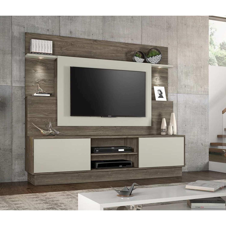 Estante Home Para Tv Até 55 Polegadas Accord Canela com Areia Notável Móveis