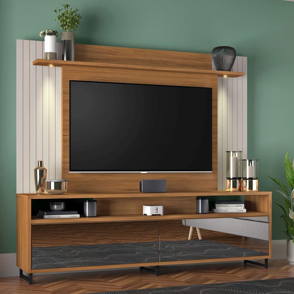 Estante Home para Tv Até 55 Polegadas Freijó Trend NT1080 Notável Móveis