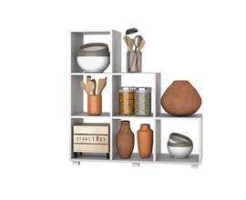 Estante Organizadora para Cozinha BMU 119 Branca BRV Móveis