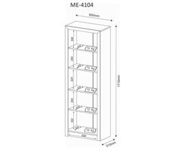 Estante Para Livros Me4104 Nogal Tecno Mobili
