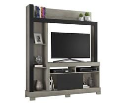Estante para TV até 43 polegadas com Porta Deslizante Carvalho com Preto NT1025 Notável Móveis