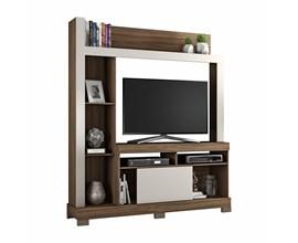 Estante Para Tv Até 43 Polegadas com Porta Deslizante Nogal Trend Nt1025 Notável Móveis