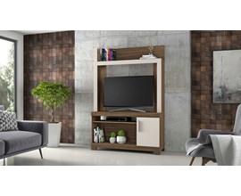 Estante Para Tv Até 43 Polegadas com Porta Nogal Trend e Off White Nt1020 Notável Móveis