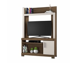 Estante Para Tv Até 43 Polegadas com Porta Nogal Trend Nt1020 Notável Móveis