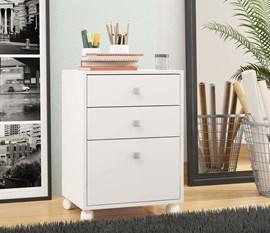 Gaveteiro Office BHO29 Branco BRV Móveis
