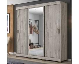 Guarda-Roupa com 3 Portas de Correr e Espelho Nude Nt5020 Notável Móveis