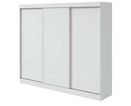 Guarda-roupa Speciale Casal 3 portas Cor Branco Móveis Lopas